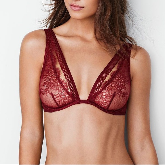 511ac45964 Chantilly Lace Plunge Very Sexy in Desire. NWT. Victoria s Secret